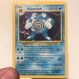 Poliwrath Pokemon Card (base set)